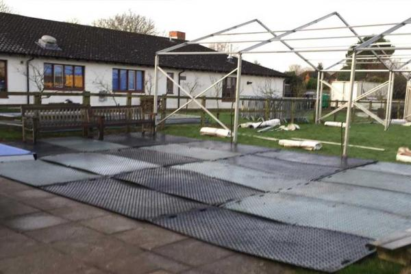 Portatrack temporary matting hire for winter beer festival in Haddenham, Buckinghamshire