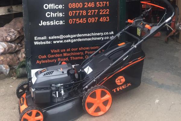 Trex electric start lawn mower sold to customer in Wendover, Buckinghamshire