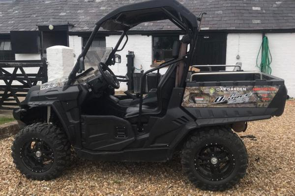 Road legal quad/ATV out on a week's hire in Oxfordshire