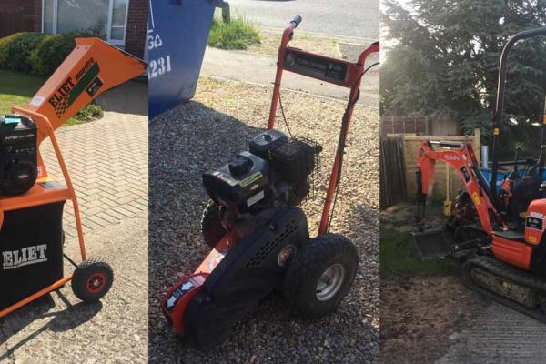 Huge range of construction and garden machinery for hire in Oxfordshire and Buckinghamshire