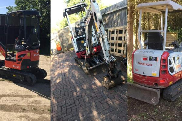 Mini diggers for hire across Buckinghamshire and Oxfordshire
