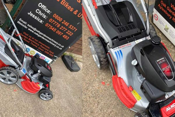 AL-KO HighLine lawnmower sold to customer in Aylesbuty, Buckinghamshire