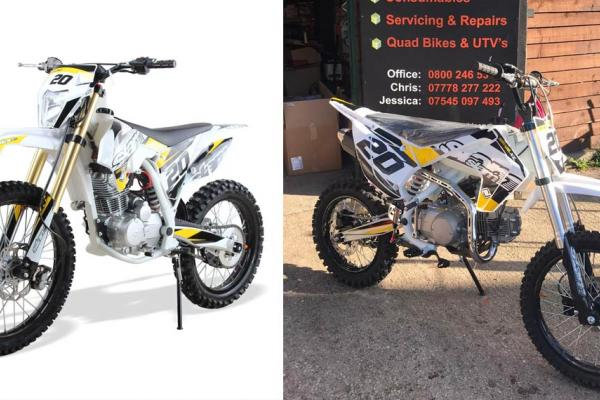 Slam pit bike sales rising in the run up to Christmas - order yours now.