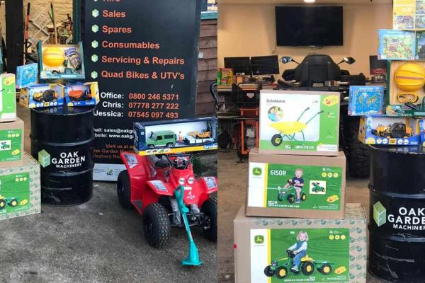 Now stocking toys for Christmas - garden and construction fun for kids