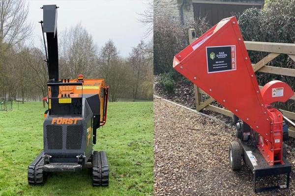 Great selection of wood chippers for hire across Oxon and Bucks