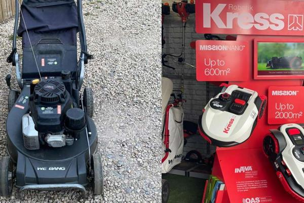 We hire and sell petrol, battery, electric and robotic lawn mowers at our showroom near Thame, Oxfordshire