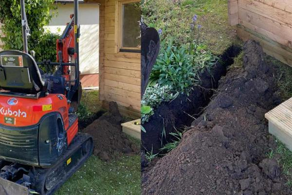Mini-digger hire now available with skilled operator across Buckinghamshire and Oxfordshire