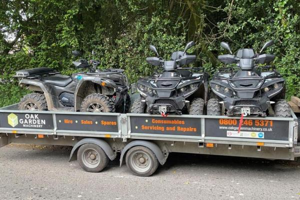 Quadzilla ATVs in for servicing at our workshop in Thame, Oxfordshire