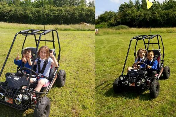 Children's off-road buggies in stock at our showroom near Thame, Oxfordshire