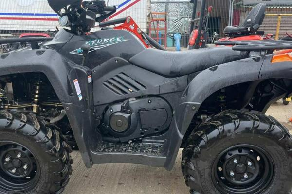 Quad bike in for service and repair at our workshop near Thame, Oxfordshire